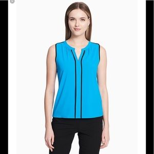 Calvin Klein Sleeveless V neck Blouse